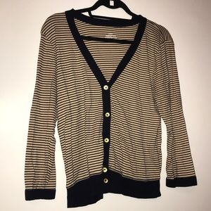 J. Crew Cardigan Striped perfect fit